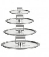 Cristel Cristel STRATE FIXE Set of 4 Flat Glass Lid 14-16-18-20cm-20