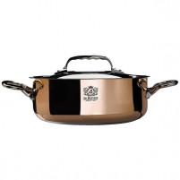 de Buyer de Buyer Copper Saute pan with magnetic bottom with lid INDUCTION-20