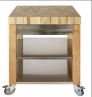 Cristel Cristel COOKMOBIL 90cm. Wooden Top Shelves and drawer Stainless Steel-20
